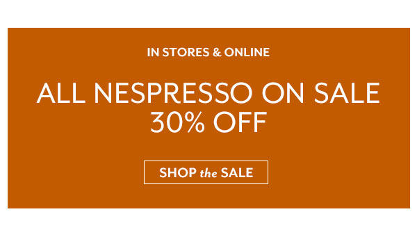 All Nespresso Sale