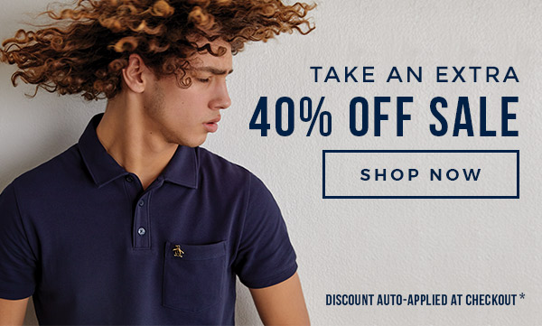 TAKE AN EXTRA 40% OFF SALE - SHOP NOW