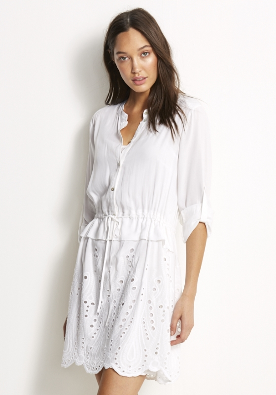 Seafolly Broderie Shirt Dress