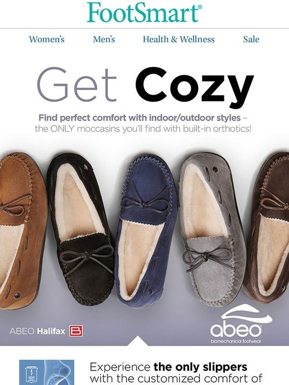 5233bd2e6c5 Foot Smart   Get cozy this season in ABEO comfort with built-in orthotics!