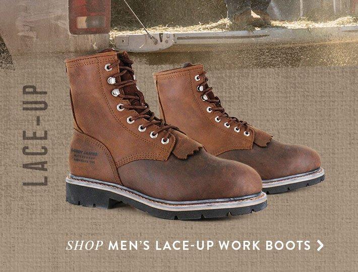 Shop Men's Lace-Up Work Boots »