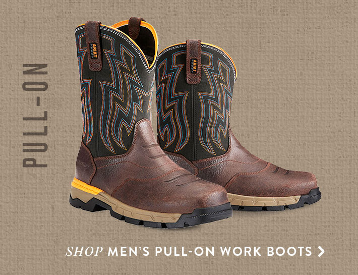 Shop Men's Pull-On Work Boots »