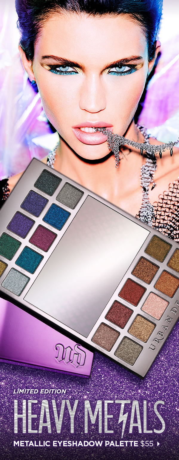 HEAVY METALS METALLIC EYESHADOW PALETTE, $55
