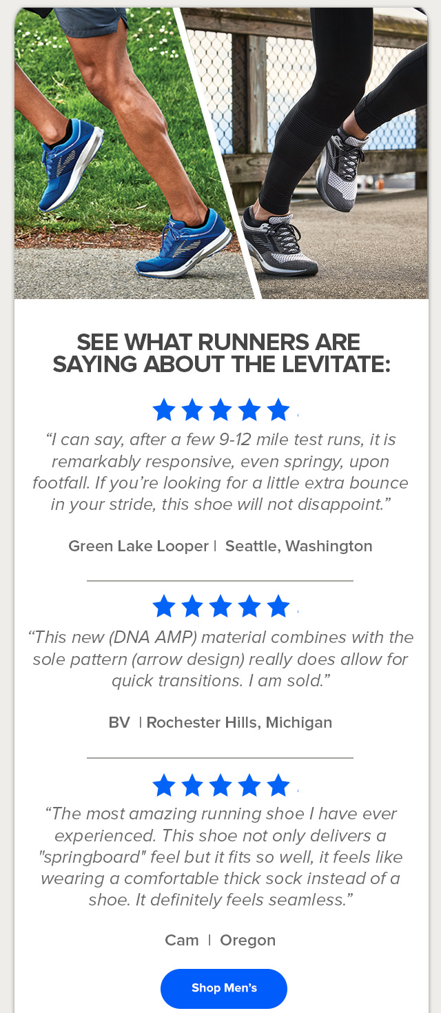 See what runners are saying about the Levitate