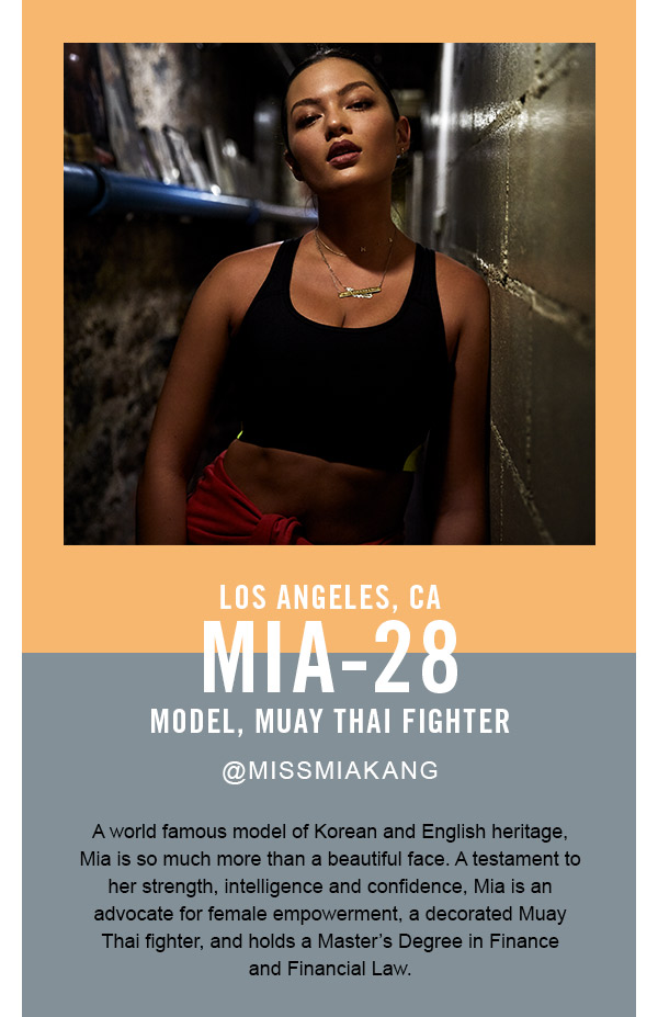 Mia, model and muay thai fighter