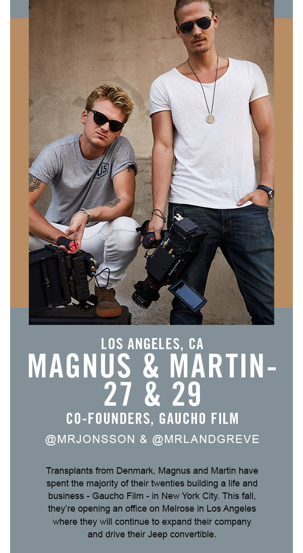 Magnus & Martin, co-founders of gaucho film