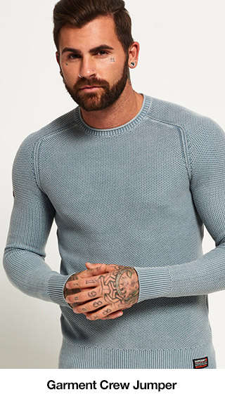 Garment Dyed LA Textured Crew Jumper
