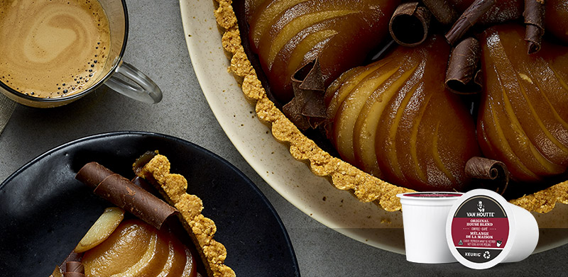 Chocolate, Coffee and Pear Pie