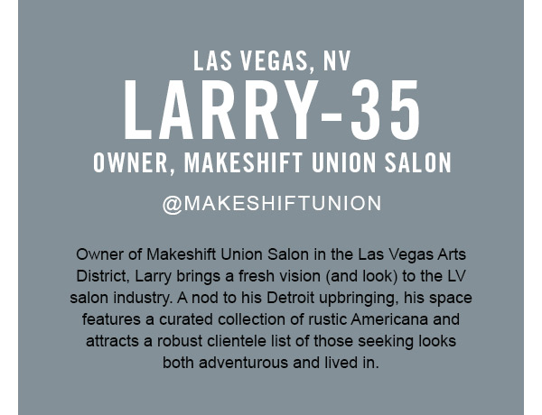 Larry, owner makeshift salon