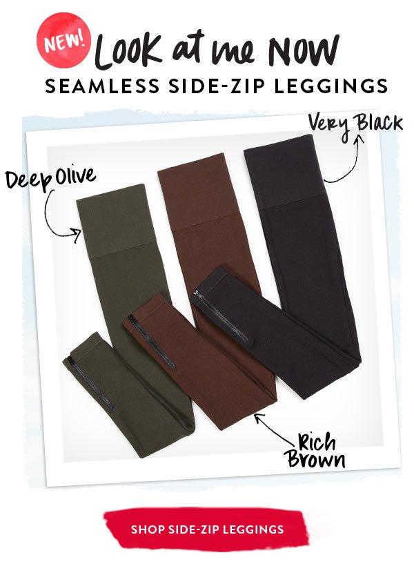 Seamless side-zip leggings