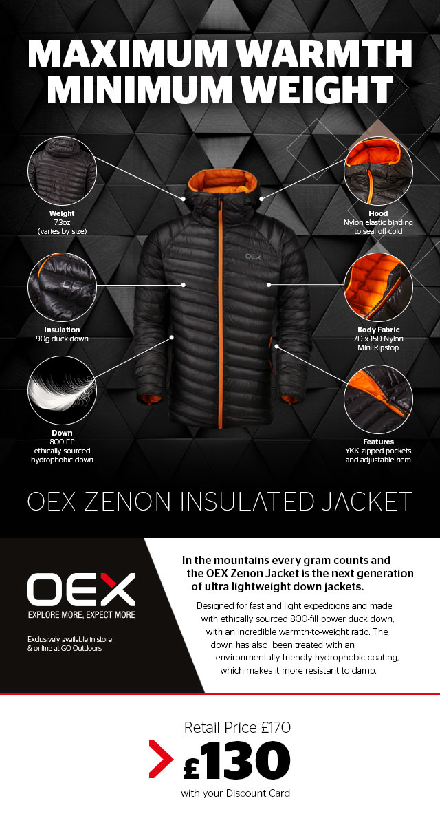 Maximum Warmth, Minimum Weight - OEX Zenon