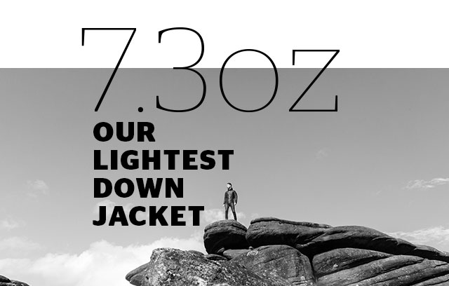 7.3oz - our lightest down jacket