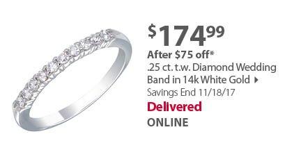 .25ct diamond wedding band