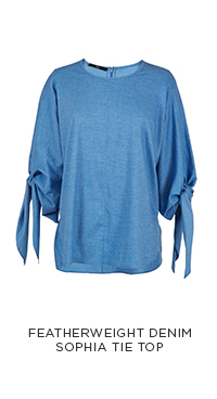 Featherweight Denim Sophia Tie Top