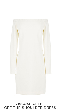 Viscose Crepe Off-the-Shoulder Dress