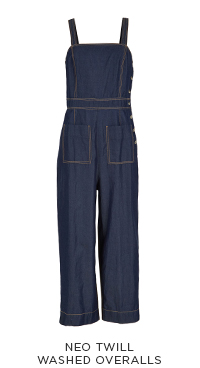 Neo Twill Washed Overalls