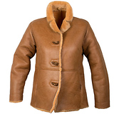 Ladies Lucky Leather 0021S Rusty Brown Color Short Shearling Coat