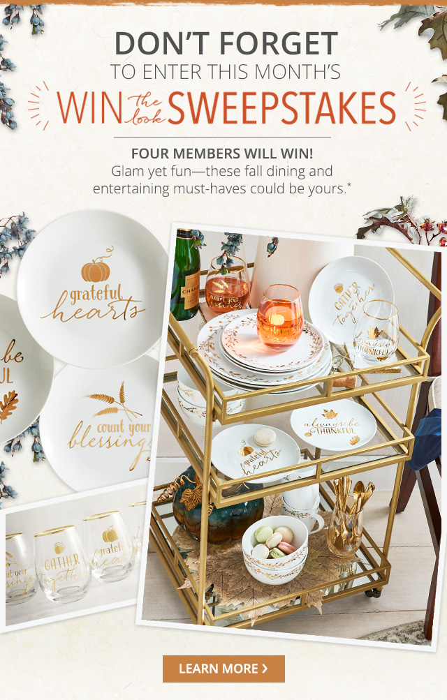 Pier 1: Enter now: Win the Look Sweepstakes  | Milled