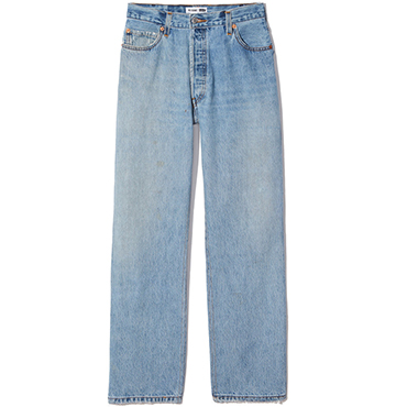 RE/DONE Ultra-High-Rise Straight Leg Jeans $320