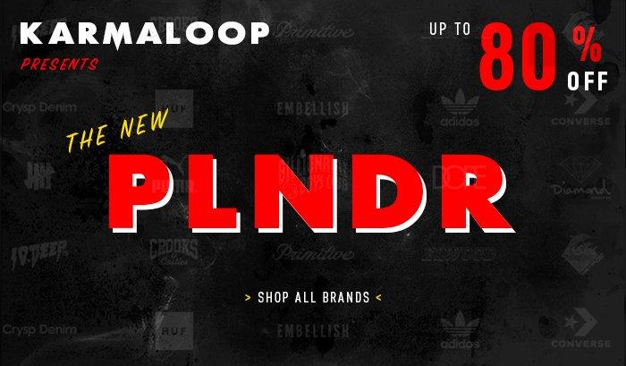 Save up to 80% OFF @ Plndr.com
