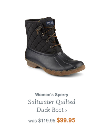 Women's Sperry Saltwater Quilted Duck Boot