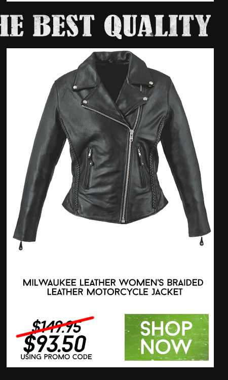 Milwaukee Leather Women's Braided Leather Motorcycle Jacket