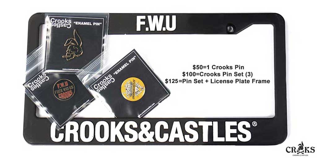 Crooks & Castles: Shop Now and Receive Free Enamel Pins