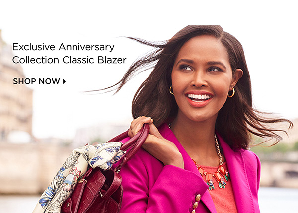 Exclusive Anniversary Collection Classic Blazer. Shop Now