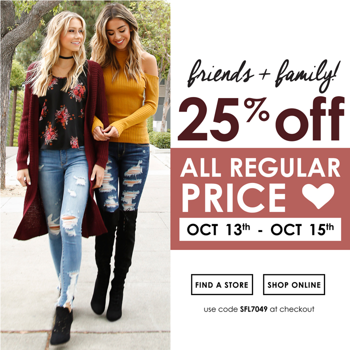 25% off All Regular Price
