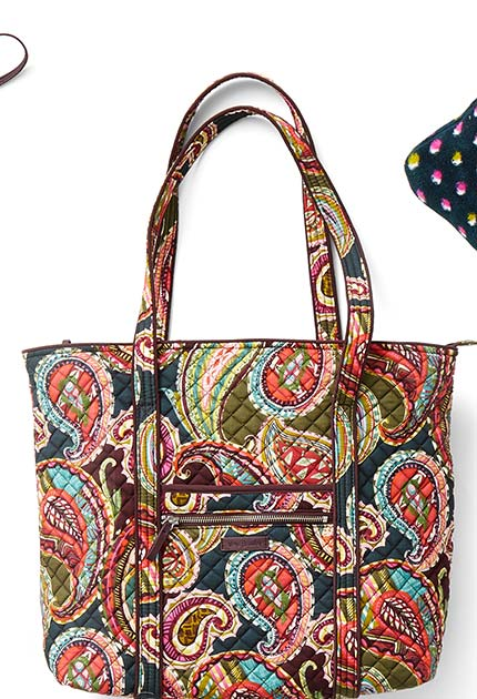 Iconic Vera Tote in Heirloom Paisley