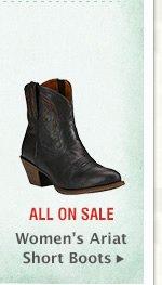 Womens Ariat Short Boots