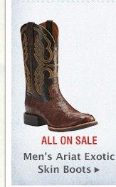 Mens Ariat Exotic Boots
