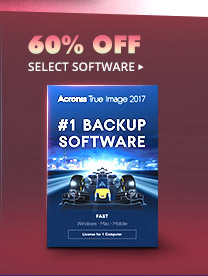 60% OFF SELECT SOFTWARE*