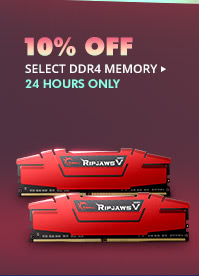 24 HOURS ONLY! 10% OFF SELECT DDR4 MEMORY*