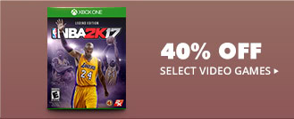 40% OFF SELECT VIDEO GAMES*