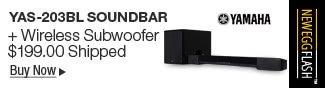 Newegg Flash - Yamaha YAS-203BL Soundbar + Wireless Subwoofer