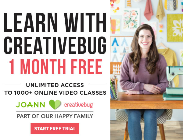 Learn with CreativeBug. 1 Month Free.  START FREE TRIAL.