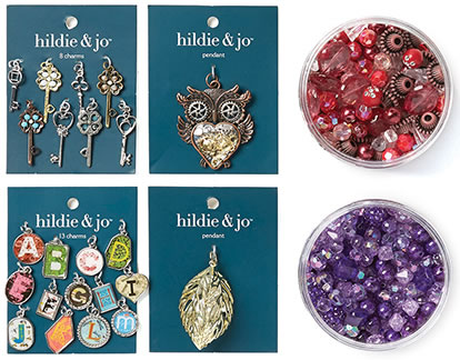 Packaged Beads, Charms and Pendants.