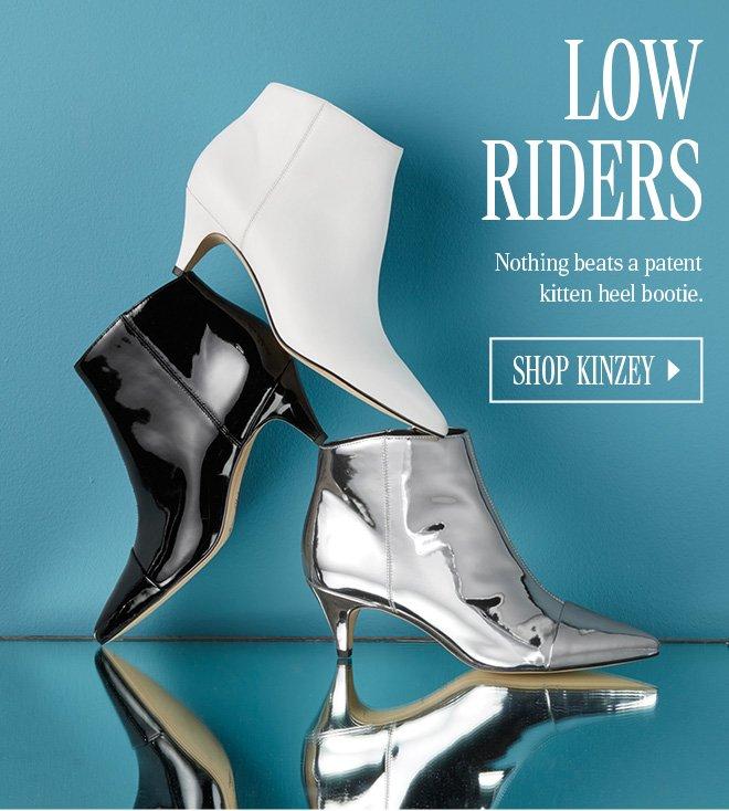 75d702dcac8947 Nothing beats a patent kitten heel bootie. SHOP KINZEY
