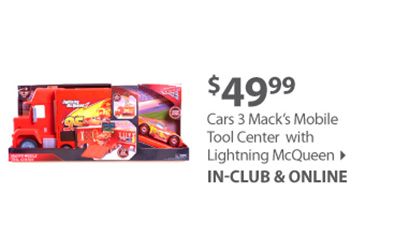 Cars 3 Mack's Mobile Tool Center with Lighting McQueen