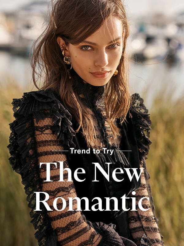 Trend to Try: Modern Romance -  Fall for rich texture, sweeping silhouettes, and subtle shimmer.