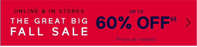 UP TO 60% OFF§§