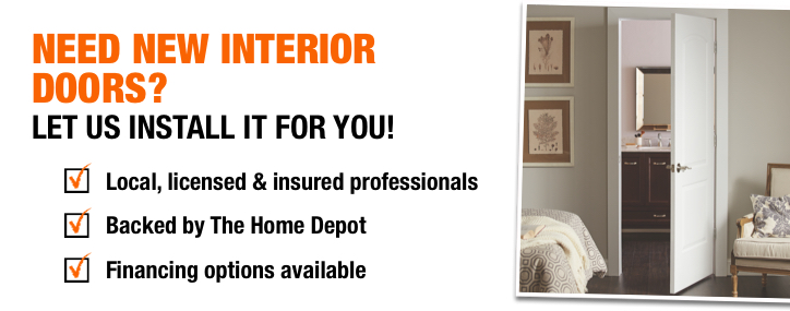 Need new interior doors? Let us install it for you!