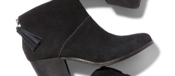 Black Suede Women's Leila Booties