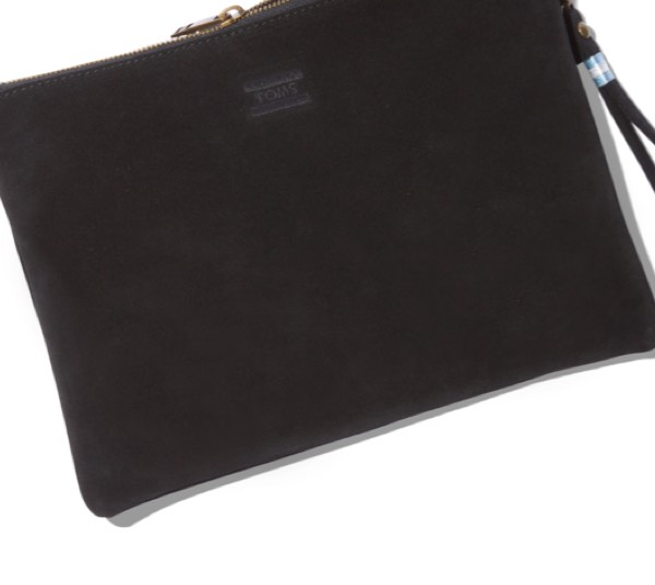 Black Suede Sierra Party Pouch