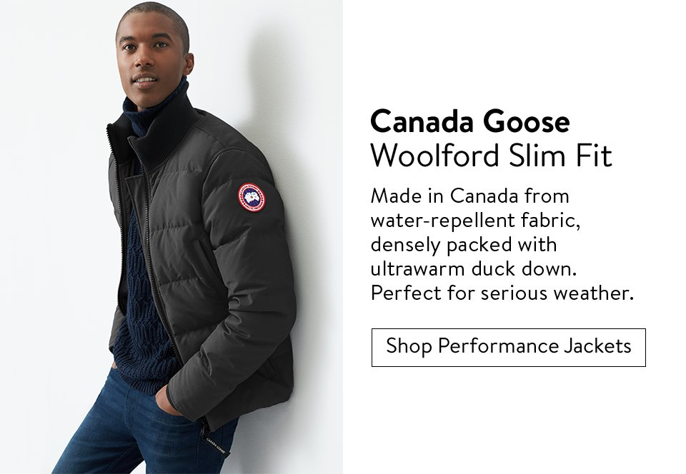 Canada Goose Woolford Slim Fit - Shop Performance Jackets