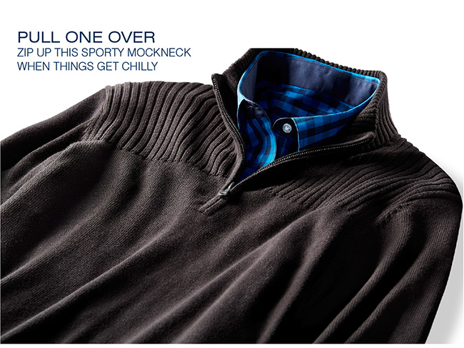 G3868 - Synrgy™ Ribbed-Knit Shoulder 1/4-Zip Pullover