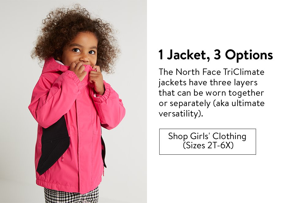 1 Jacket, 3 Options | Shop Girls' Clothing (Sizes 2T-6X)
