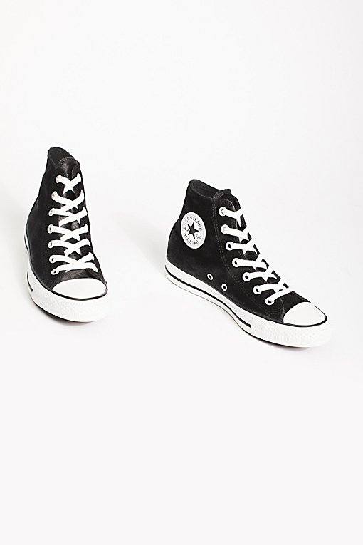 Velvet High Top Sneakers