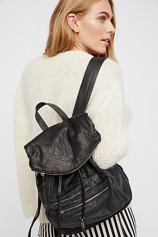 Bow Leather Backpack
